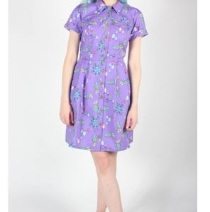 Birds of NA Purple Pineapple Party Dress